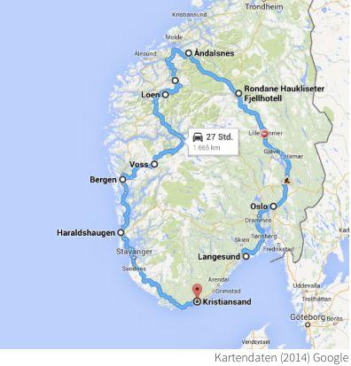 Ein Roadtrip durch Norwegen