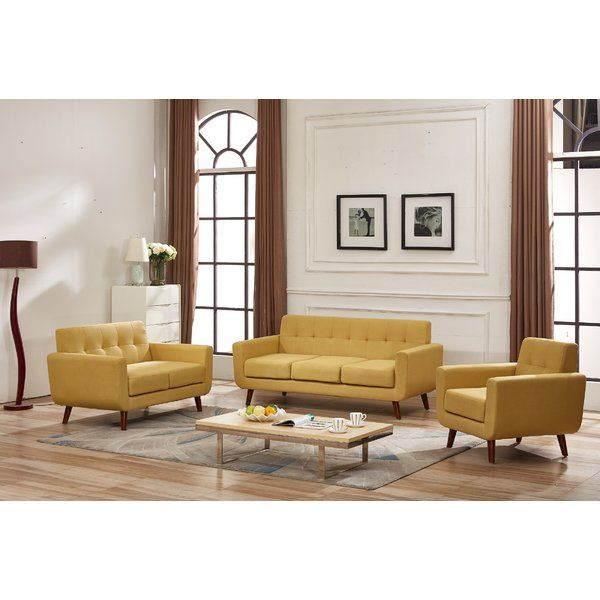 Nilson 3 Piece Living Room Set With Images 3 Piece Living Room