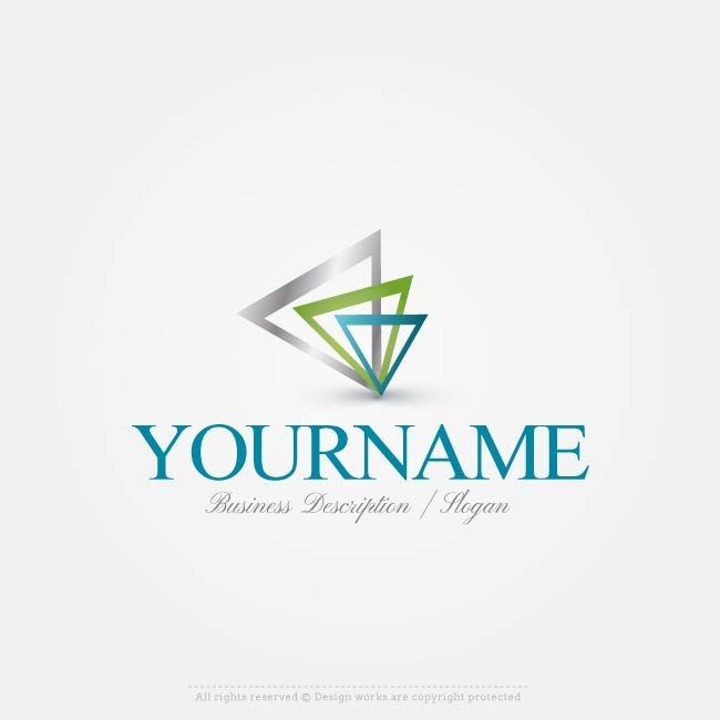 Free Logo Creator – 3 Triangles Logo Design