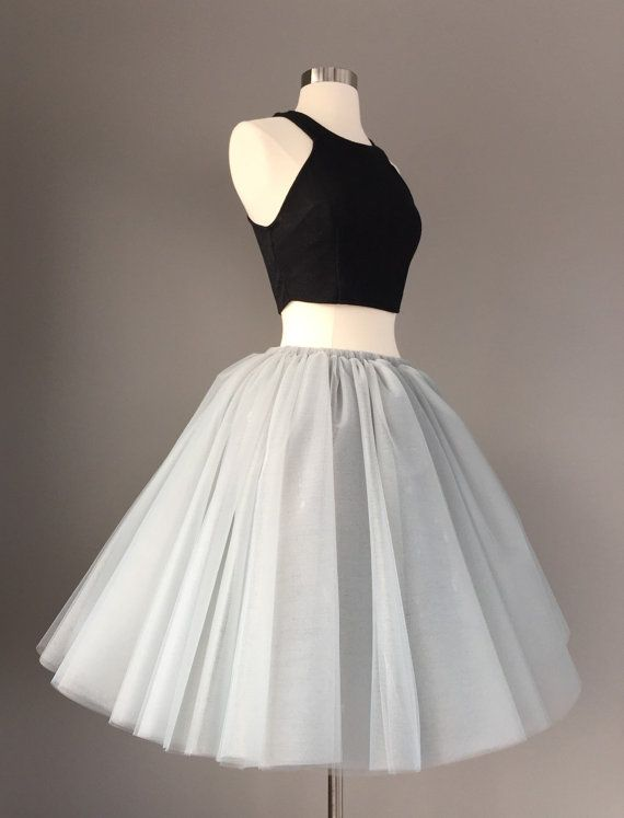 Custom Order Sewn Gray Tutu- adult tulle skirt    Usually ships in 1-2 weeks ( check shop announcement for current ship times).    This is a