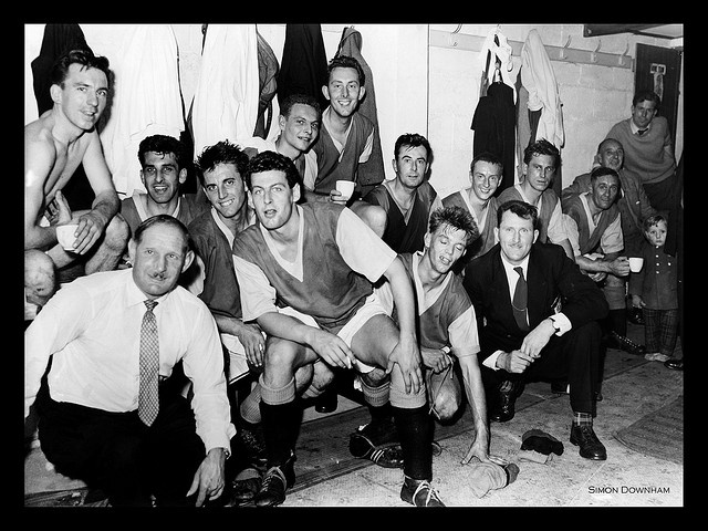 Basingstoke Town Football Club Changing Room (1962 I believe)     http://advertiseyourbizonline Social Media Marketing Manager - Graphics and more.