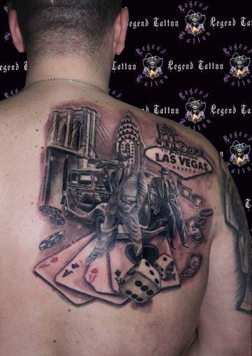 tatuajes de juegos de azar las vegas