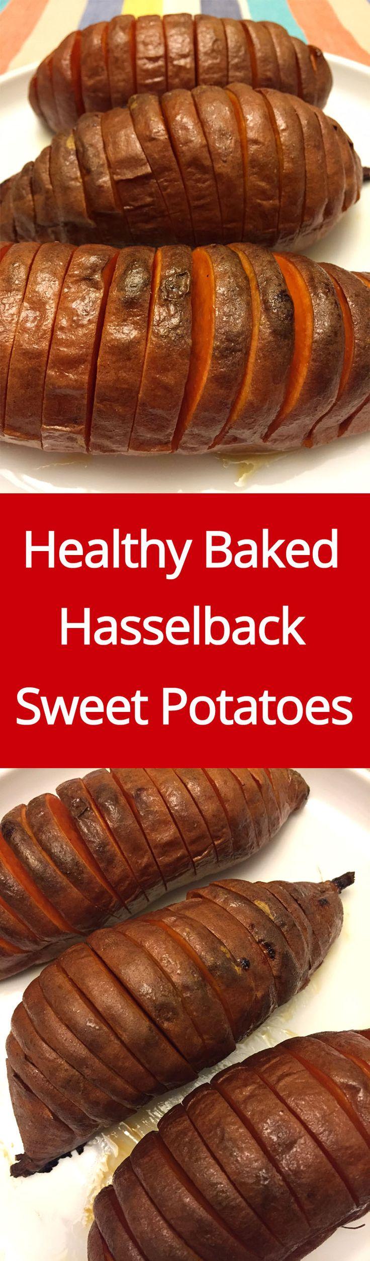 Hasselback (Accordion) Baked Sweet Potatoes Recipe (Paleo)
