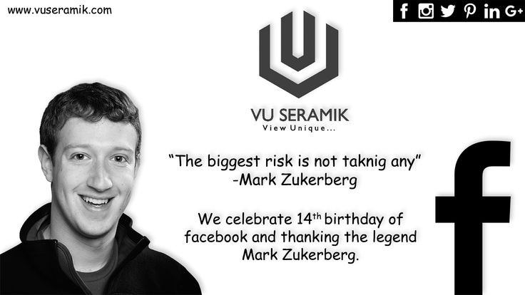 Before 14 years we were introduced to the Facebook and now it is the synonym of social media.  VU Seramik, manufacturer cum merchant exporter and supplier of all type of ceramic, porcelain and vitrified tiles celebrate 14th birthday of Facebook.  #facebook #facebookmarketing #ceramics #tiles