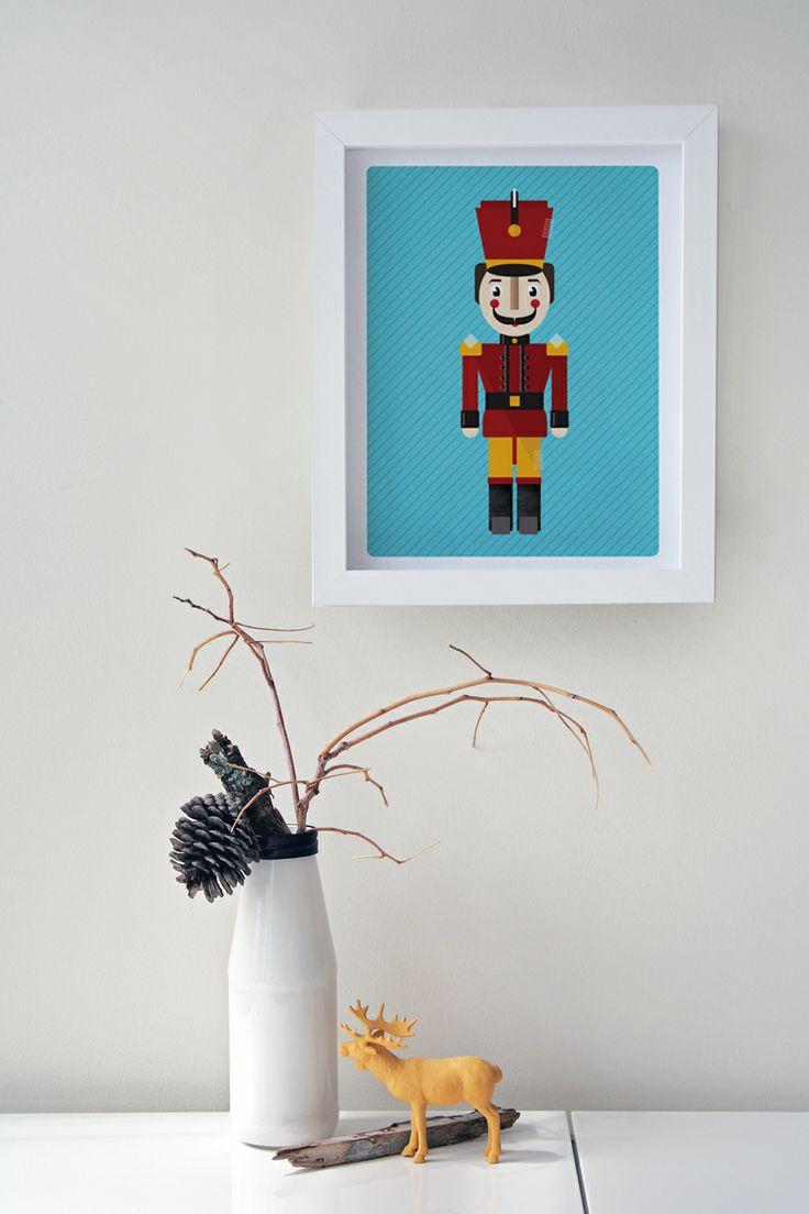 Modern Children's Wall Art - Soldier Toy