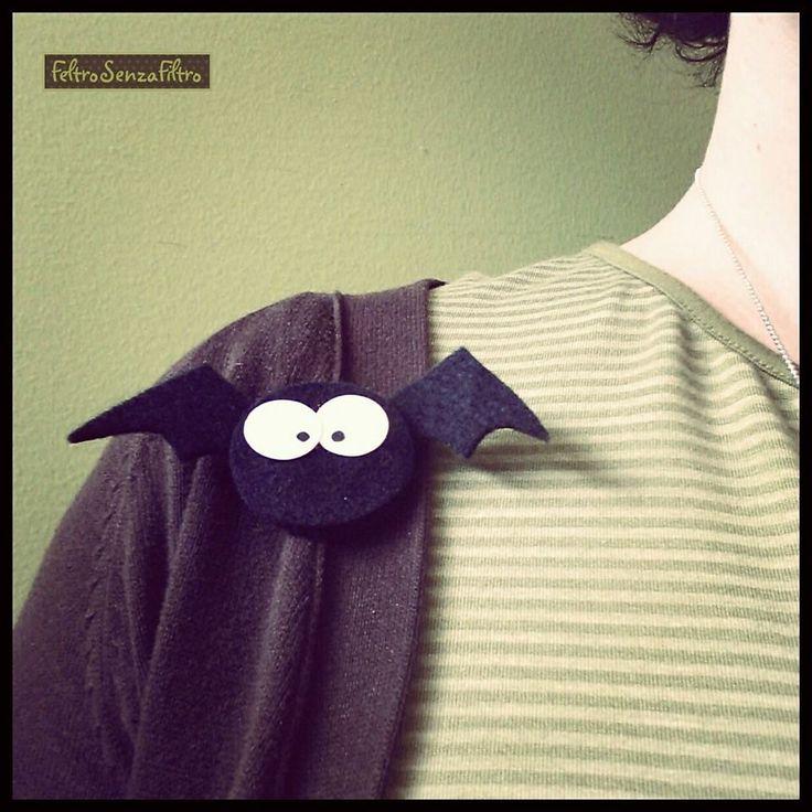 #felt #bat for #halloween - #pipistrello di #feltro