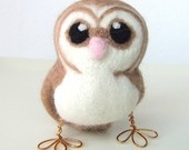 This shop has THE cutest things I have ever seen. This one is a needle felted barn owl.