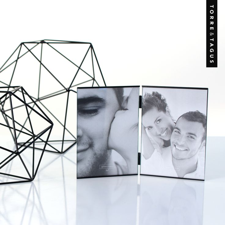 12 days and counting to celebrate Dad! A perfect pairing for Dad's office or bookshelf.  A Multi Trim Hinged Double Frame holding his favorite memories are complimented with the modern look of Polygon Iron Frame Decor Balls.