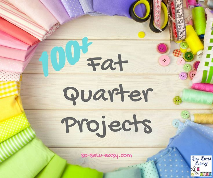 So here are over 100 fat quarter projects and sewing patterns for you to enjoy.  The range of ideas and designs is extraordinary with a huge selection from easy cosmetic bags to baby burp clothes and everything in between.