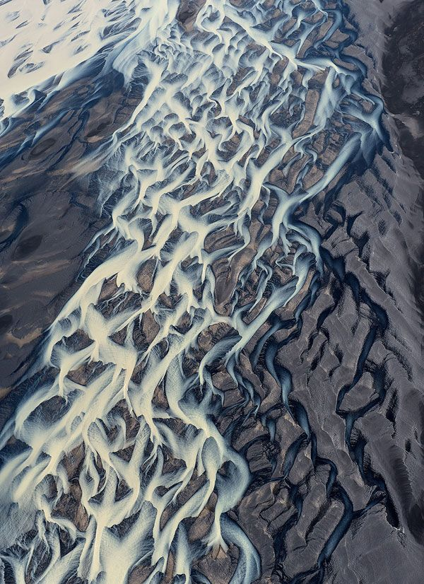 Aerial view of a glacial river in Iceland http://www.mnn.com/earth-matters/wilderness-resources/blogs/12-gorgeous-photos-of-icelands-icy-waterscapes