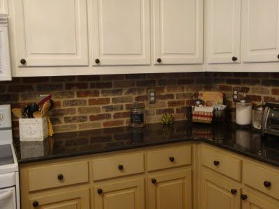 brick veneer backsplash backsplash tile cabinets colors kitchens