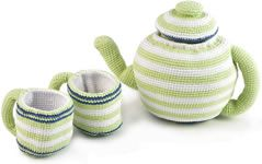 Love this....#fairtrade crochet tea set @Babipur: Plays Teas, Families National, Shops, Teas Pots, Afternoon Teas, Crochet Teas, Teas Sets, Products, Teas Parties