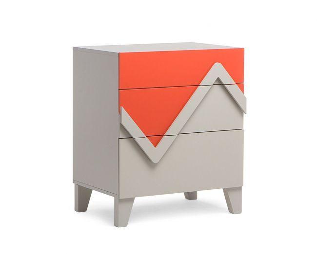 Cômoda Colors - 72x60 - Laranja