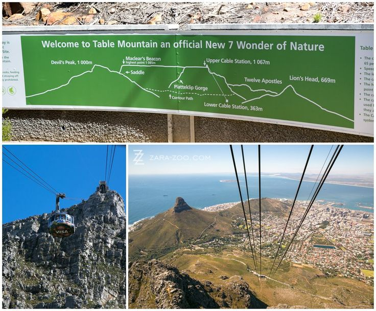 Table Mountain Cape Town, one of the 7 Wonders of Nature. Cape Town tourism. ZaraZoo Photography