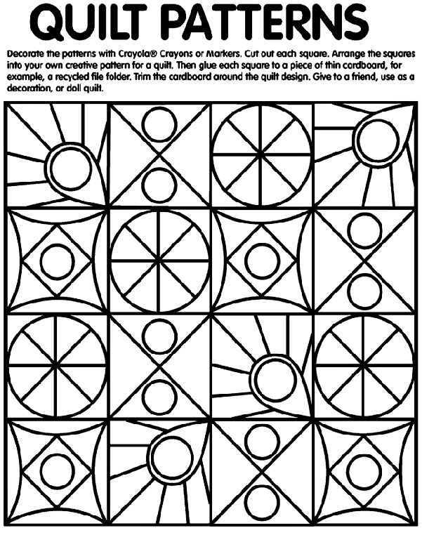 The Rag Coat - quilt patterns coloring page on Crayola