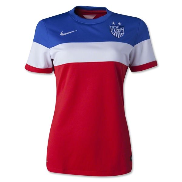 ... Blue Customized Away Womens Authentic 20152016 Customized Nike USA  Soccer Team 3-Star Jersey USA ... fc2839e443