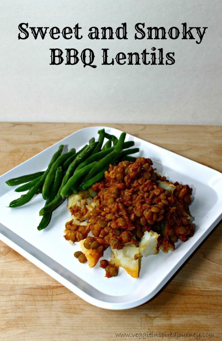 Sweet & Smoky BBQ Lentils