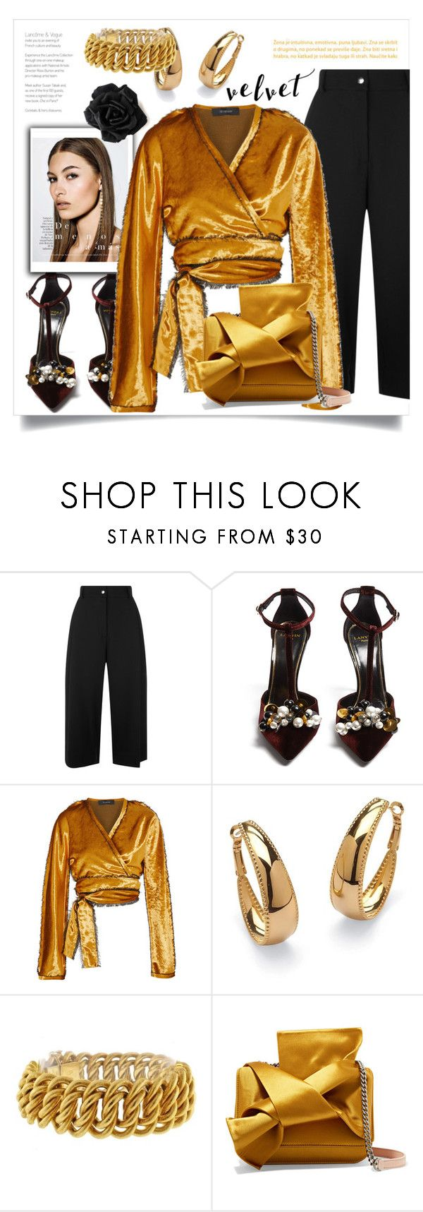 """""""Untitled #797"""" by metka-belina ❤ liked on Polyvore featuring Public School, Lanvin, Sid Neigum, Palm Beach Jewelry, Buccellati and N°21"""