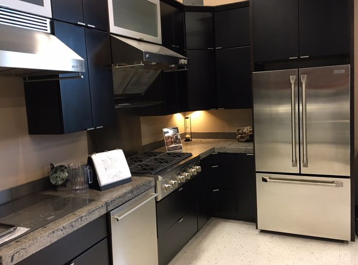 Custom cabinetry we designed for Fred's Appliances here in Kalispell. Contemporary design for the modern family.