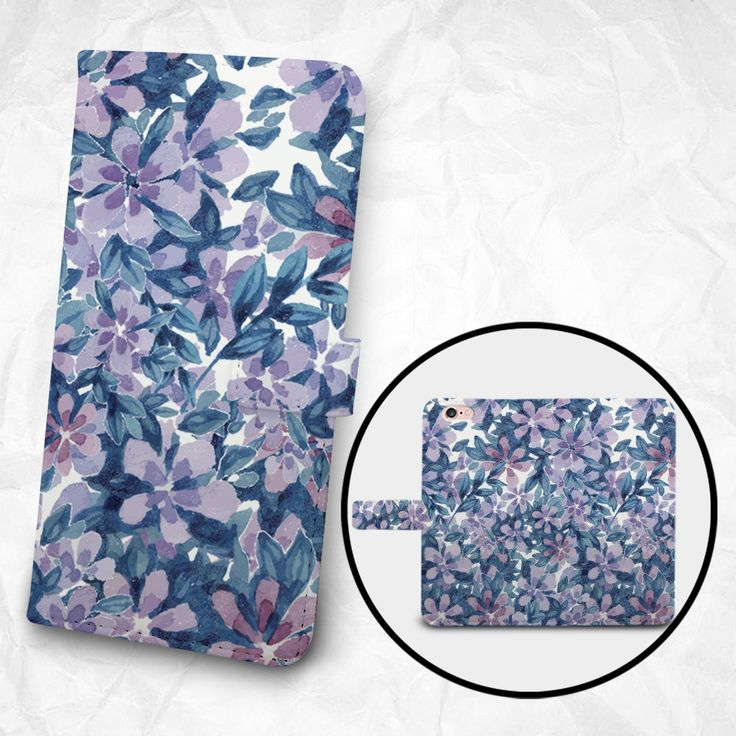 iPhone 6 6S Plus case Samsung Galaxy S6 case Edge case Note 5 4 3 2 PU leather flip cover Book Phone case Wallet case - Flowers and Leaves by BeeBeeStyle on Etsy