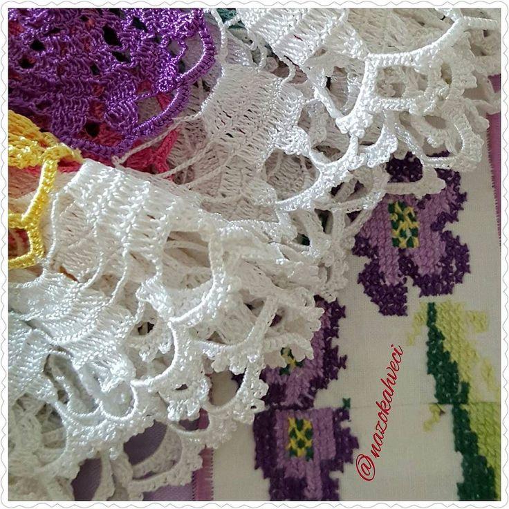 günaydınmutlu hafta sonlarıgood morning   #dantel#işleme#örgü#yarn#art#kaneviçe#iğne #iplik #tığişi#fiskosmasası #yastik #minder #kirlent #keyifler #bahargeldi #stitch #embroidery #crochet #crocheting #tastagram #crochetblanket #crochetgeek #home #handmade##fashion#tagsforlikes #instagram #vintage#instalove #instafashion by nazokahveci