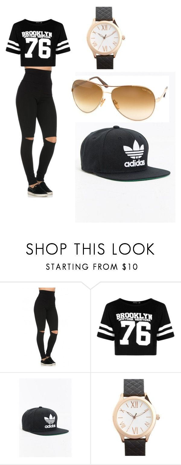 """Untitled #20"" by toyaboswell on Polyvore featuring Boohoo, adidas, Topshop and Tom Ford"