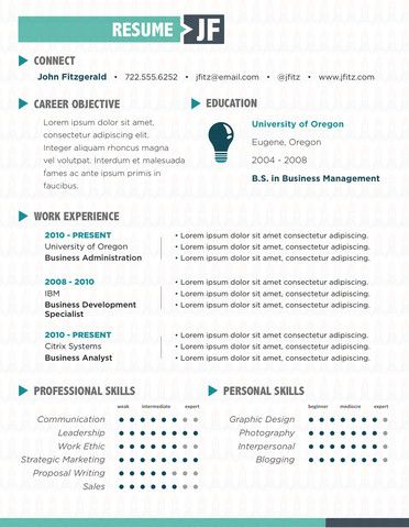 65 Best Creative Cv / Resume Images On Pinterest | Resume Ideas