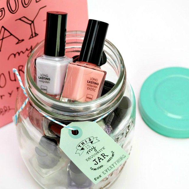 Handig! Onze mason jars zijn zelfs geschikt om je nagellak in te bewaren.