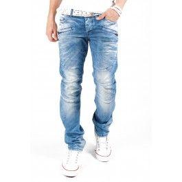 Cipo & Baxx dżinsy Zipper i C-0966 Niebieski - Only €49.95 1S1H
