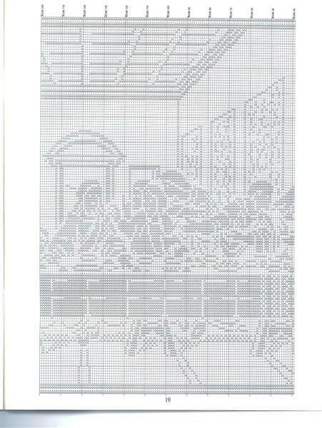 Christian Filet Crochet Patterns | HC3117 Filet Crochet Religious Charts - part of Last Supper photo ...