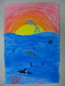 Miss Young's Art Room: 4th Grade Undersea Art do this with dear children of the earth?