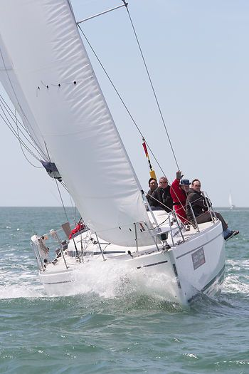 The Arcona 400 yacht 'Arc Angel' competing in the 2013 J.P. Morgan Asset Management Round the Island Race.