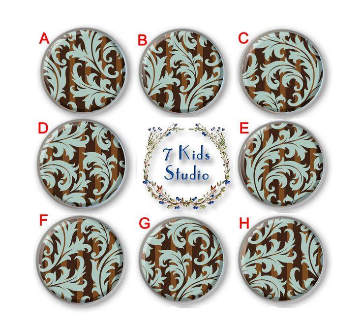 Floral Ornament Brown Drawer Knob Dresser Pull Handle Dresser Cabinet Porcelain Kitchen Dinning Room Ceramic Furniture Hardware