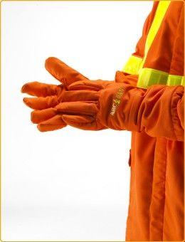 ARCBAN® Orange three layer Nomex gauntlets - JK Ross Arc Flash Protection  #arcflash #electricalsafety #ppe #ppetalk #ad #arcban #jkross