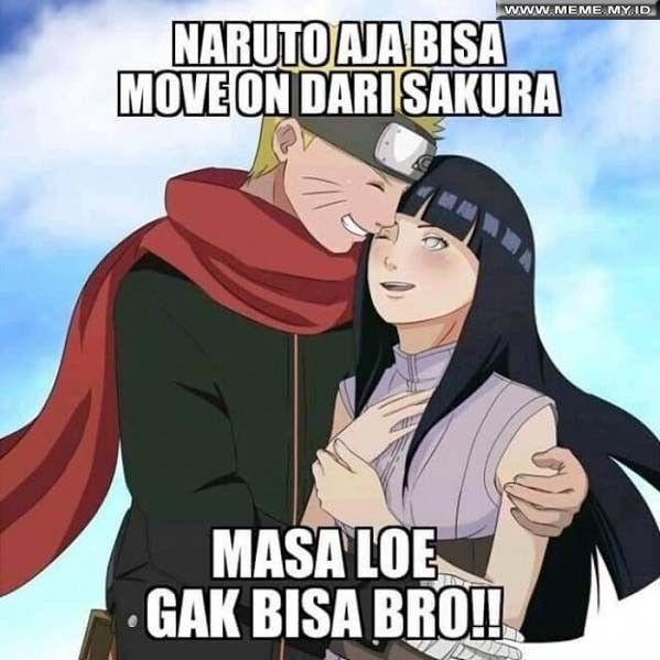Naruto aja bisa move on dari Sakura - #MemeLucu #MemeKocak #GambarLucu