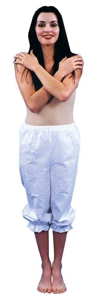 Costumes! Standard White Rag Doll Costume Panyaloon Bloomers w Ruffled Cuffs  #av
