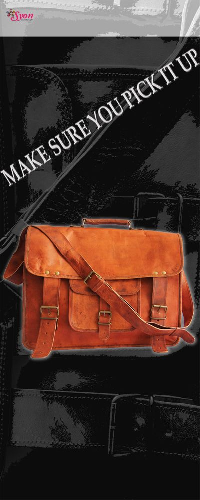 Carry the 'BEST' Be the 'BEST' !! Leather messenger / laptop bag.