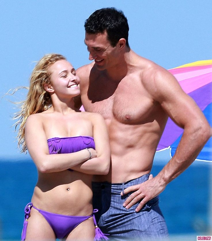Bikini-clad Hayden Panettiere and Wladimir Klitschko hit the waves