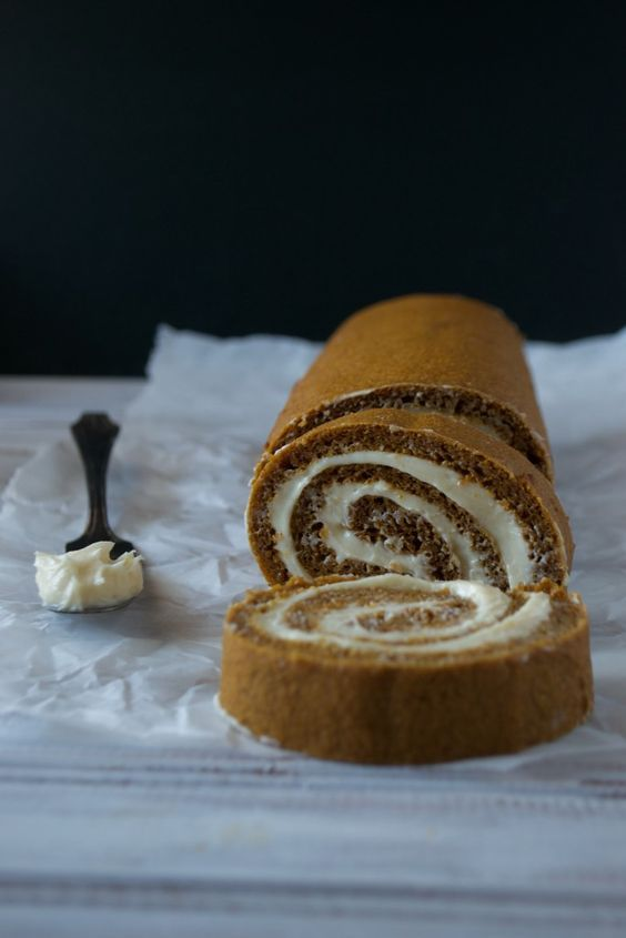 Pumpkin Roll Cake (GF, Paleo, and nut free!) - Paleo Crumbs