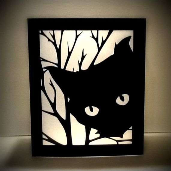 Black Cat Halloween Luminaries  Large Paper Lantern by MinksPaperie, $10.00    light up party decorations