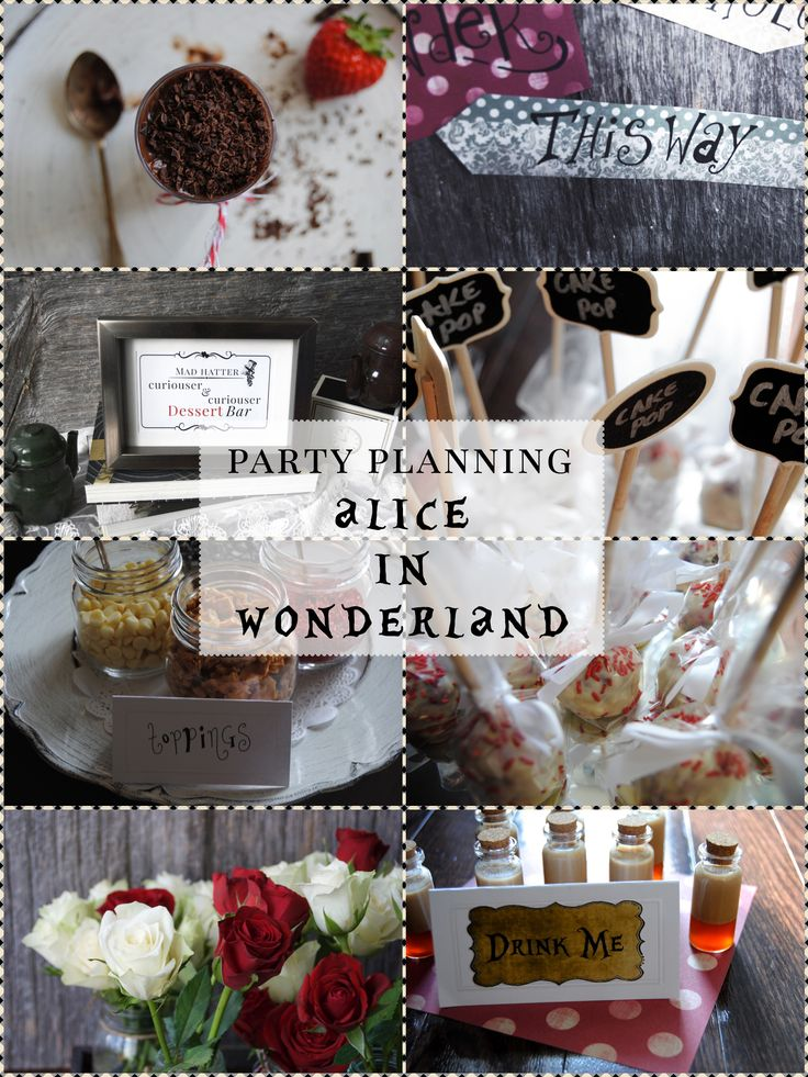Alice in Wonderland party theme ideas!