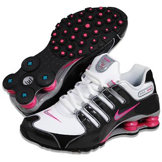 @Overstock.com - These Nike Shox running shoes feature Nike's Shox midsole for impact-absorption to enhance any athletic activity from running to basketball. These shoes feature a modern look in black, pink and white. http://www.overstock.com/Clothing-Shoes/Nike-Womens-Shox-NZ-SL-White-Black-Pink-Running-Shoes/7828114/product.html?CID=214117 $129.99