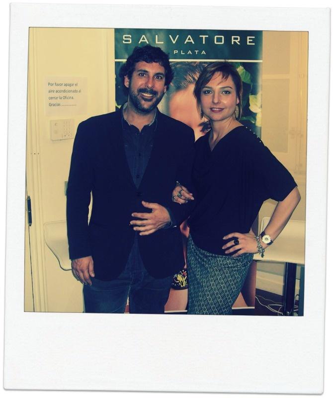 En el showroom de Salvatore Plata, con Salva Pellicer, alma mater de la firma, un placer conocerle !!!