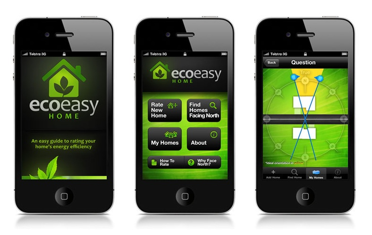 Eco Easy Home iPhone App Designed by Ulladulla Web Design