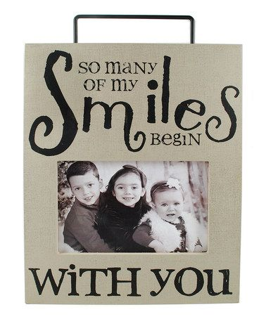 Love this 'Smiles' Wall Box Photo Frame by Blossom Bucket on #zulily! #zulilyfinds
