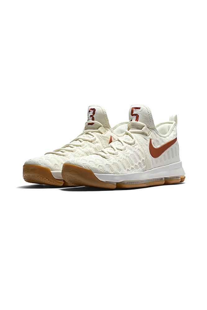 02c3c7f761e6 Nike and Kevin Durant teamed up together to bring you the Zoom KD 9 Texas  Longhorns Basketball Shoe. Get this Limited Edition shoe bef…