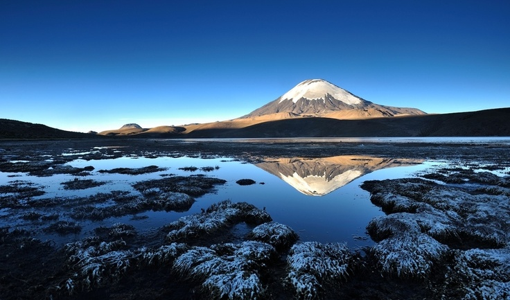 Parinacota and Chungará Lake - Lauca National Park, Putre, Chile