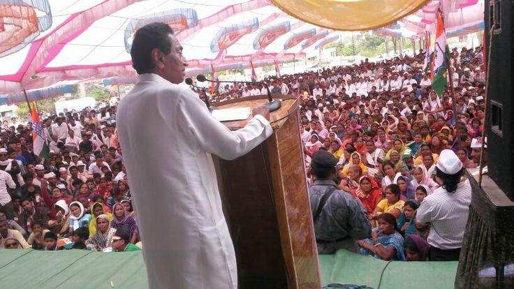 Shri Kamal Nath addressing a public meeting in Damua. #KamalNath #ElectionRally #Damua #Chhindwara #IndianNationalCongress #INC #India #Election2014 #ElectionTracker