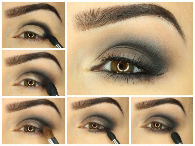 Klasyczne smoky eye wykonane cieniami marki Paese. Opis makijażu krok po kroku możecie zobaczyć na http://blog.ekobieca.pl/smoky-eye/