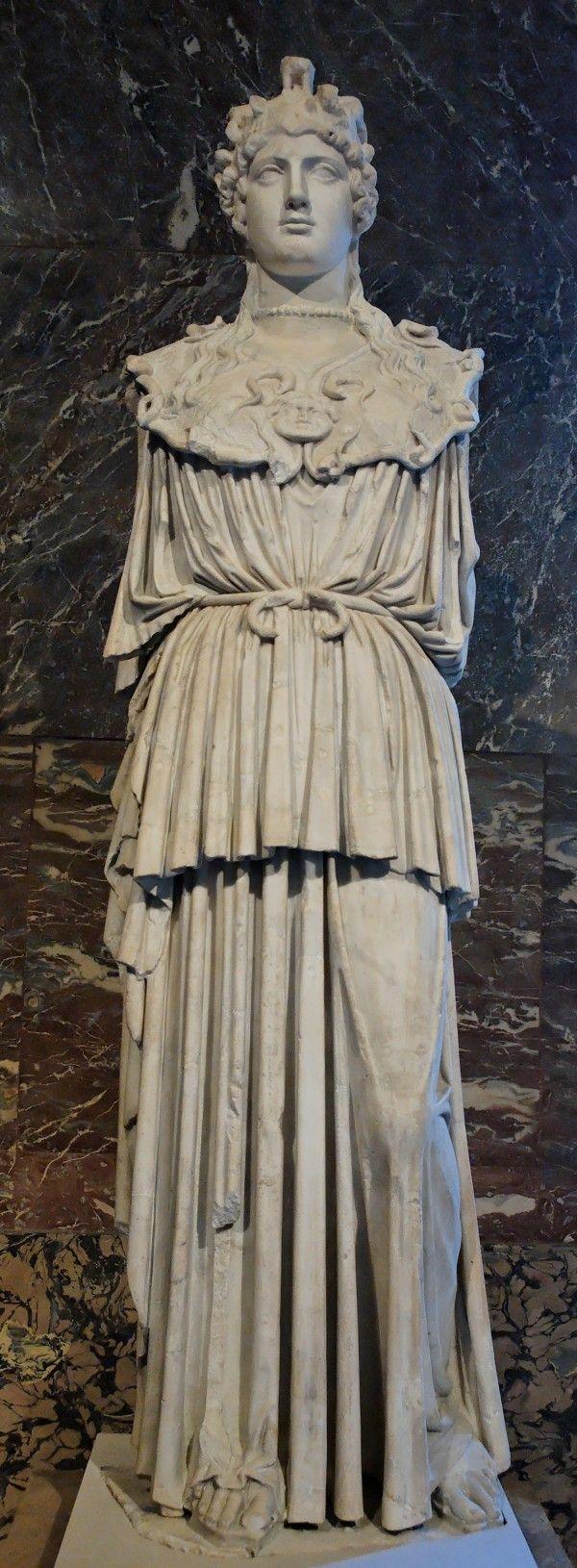Древнегреческая скульптура,Афина Парфенос Лувр Париж шедевры мировой живописи бесплатно скачать